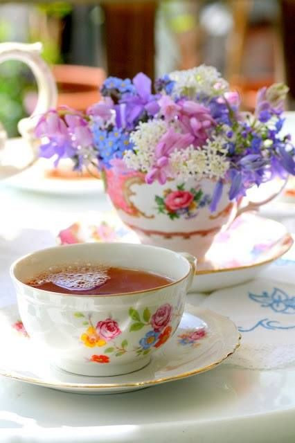 Cup Of Flowers & A Cup Of Tea Pictures, Photos, and Images