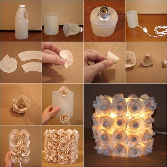 craft ideas with household items diy lamp from plastic bottles pictures photos and 6327