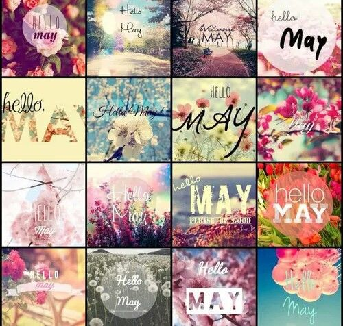 Hello May Collage