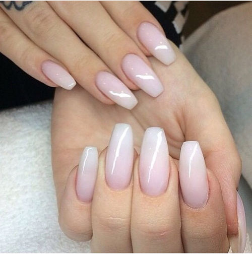 White And Pink Ombre Nails Pictures, Photos, and Images ...