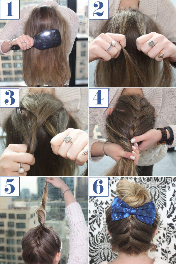 Upside Down French Braid Hair Tutorial Pictures Photos And