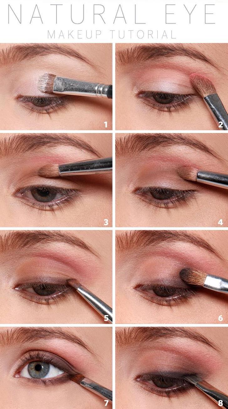 Eye make up natural tutorial