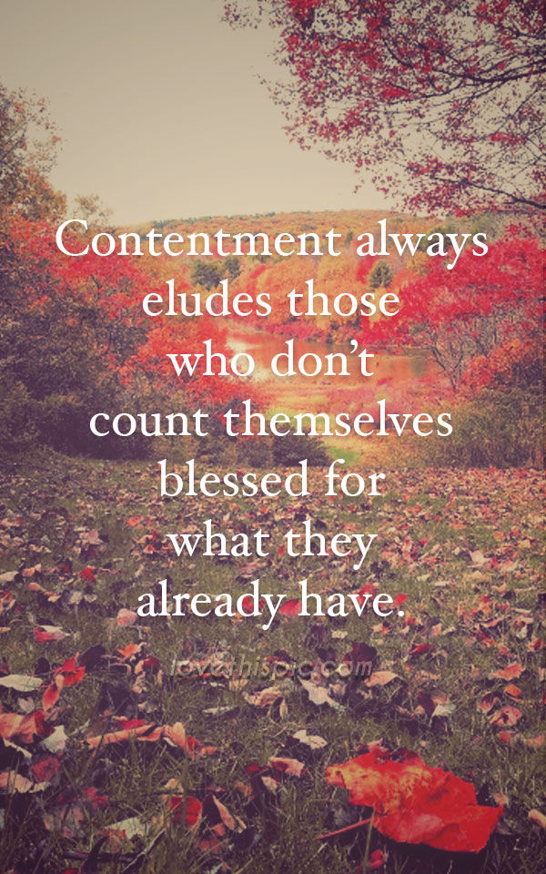 Contentment Pictures, Photos, and Images for Facebook