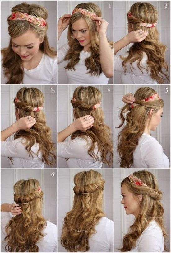 hair styling hacks tuck and cover half hairdo tutorial pictures photos and 7083