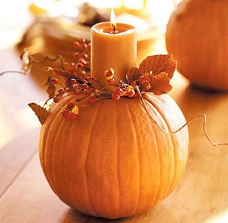Diy: Autumnal Table Decoration with Pumpkin