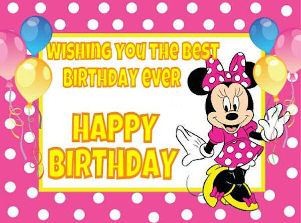 Disney Birthday Wishes For Friend ~ Minnie mouse happy birthday quote pictures photos and images for facebook tumblr pinterest