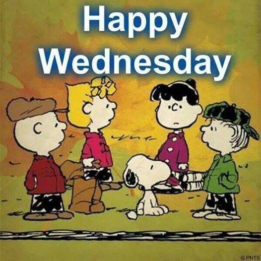 Happy Wednesday Peanuts Gang