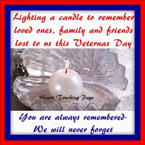 Remembering Loved Ones On Veterans Day