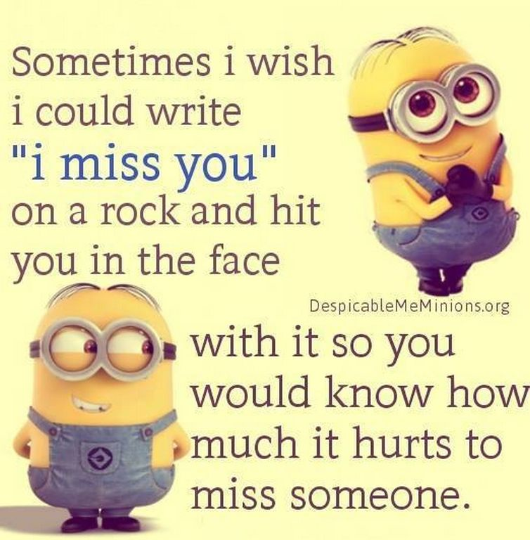 I Miss You Minion Quote Pictures, Photos, And Images For Facebook, Tumblr,