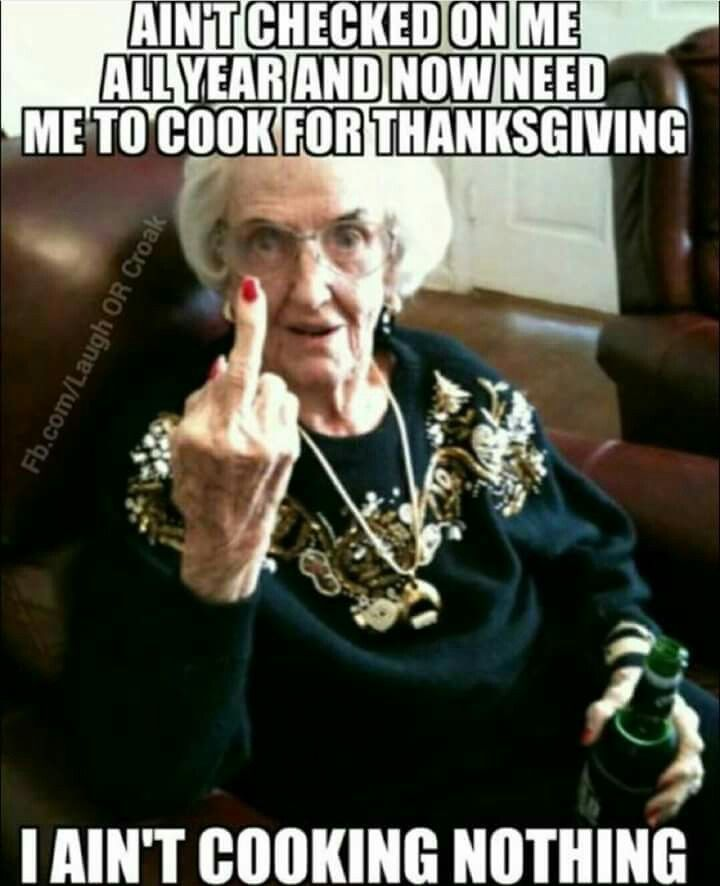 Bitter Grandma On Thanksgiving Pictures, Photos, and ...