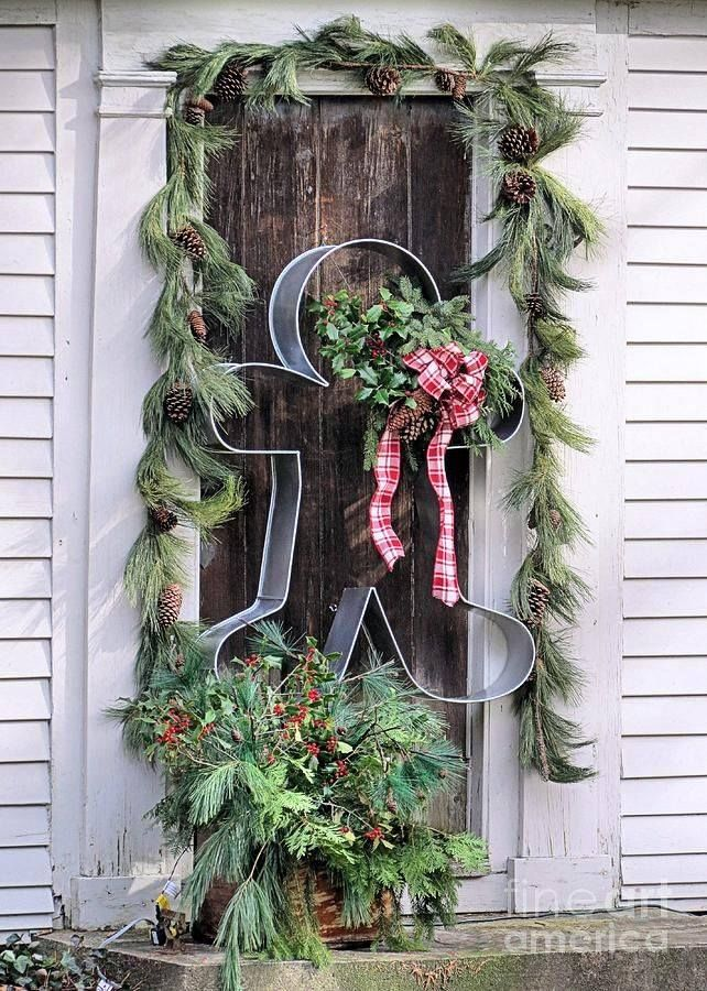 Cute Front Door Christmas Decorations Pictures Photos