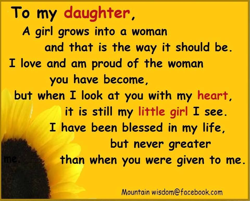To My Daughter Pictures, Photos, and Images for Facebook ...