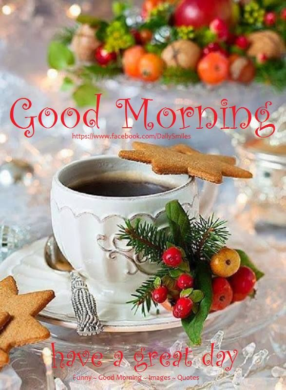 Christmas Good Morning Have A Great Day Quote Pictures