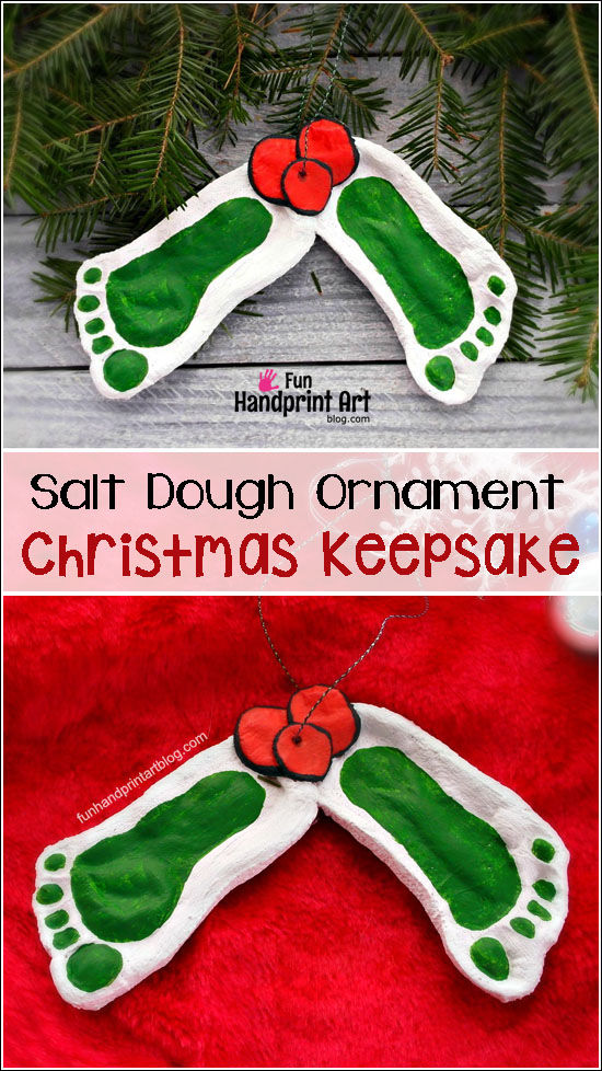 footprint salt dough keepsake salt dough ornament keepsake pictures photos and images 4496