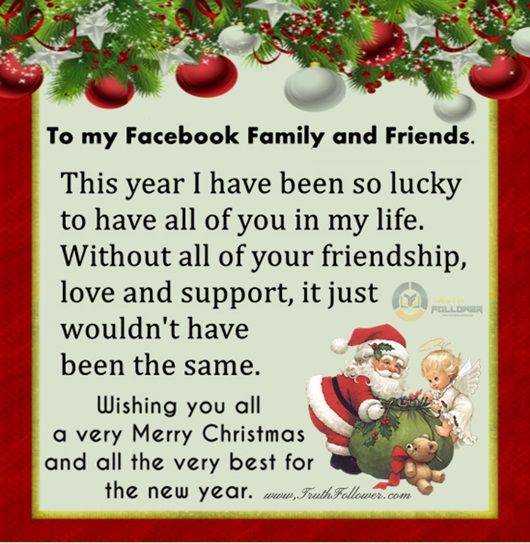 Merry Christmas And Happy New Year To My Facebook Family And Friends Pictures, Photos, and ...