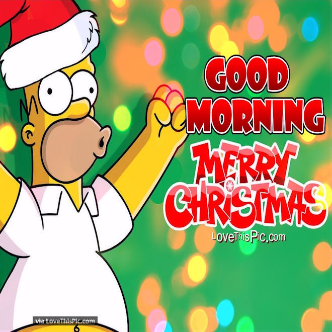 Homer Simpson Wedding Quotes: Homer Simpson Good Morning Merry Christmas Quote Pictures