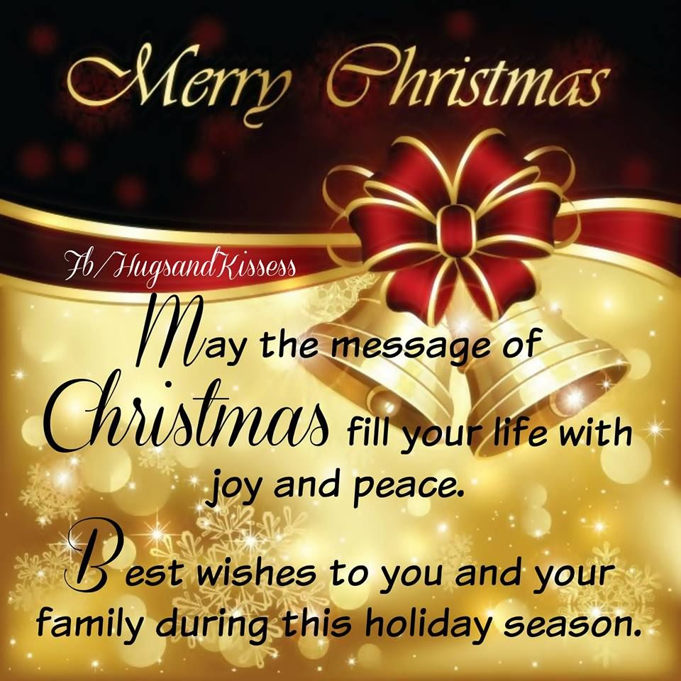 Merry Christmas Best Wishes To You And Your Familt ...