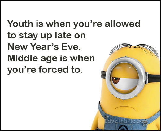 Funny Happy New Years Eve Minion Quote Pictures, Photos ...