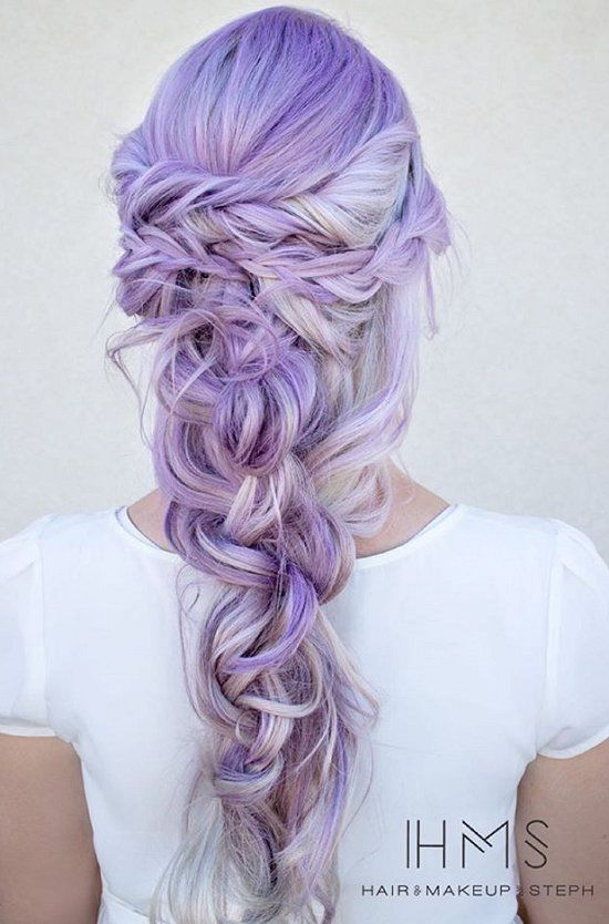 Lavender Wrapped Fishtail Braid Pictures Photos And