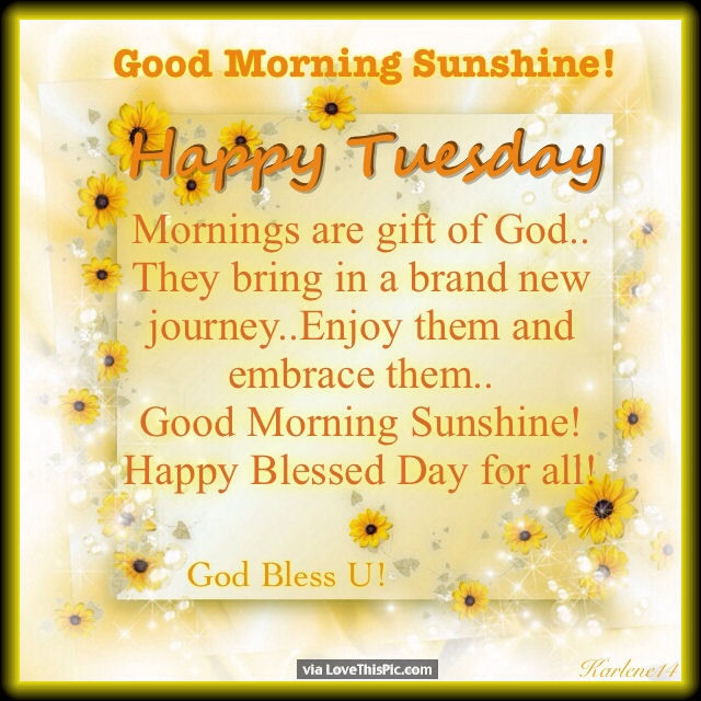 Tuesday Morning God Quotes