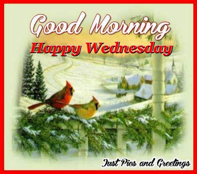 Good Morning Happy Wednesday Winter Image Quote Pictures