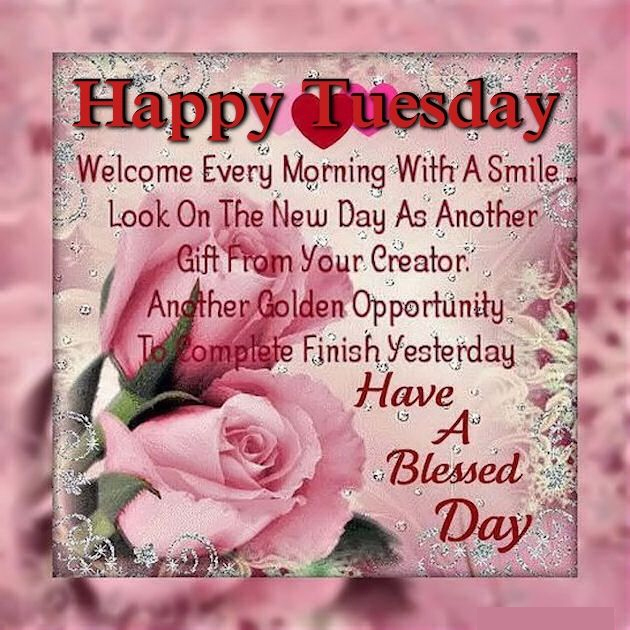 Happy Inspirational Quotes On Pinterest: Happy Tuesday Have A Blessed Day Inspirational Quote