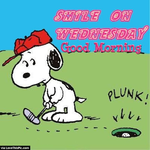 Good Morning Snoopy Wednesday : Smile on wednesday good morning snoopy quote pictures