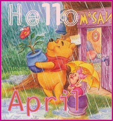 Winnie The Pooh Hello April Quote