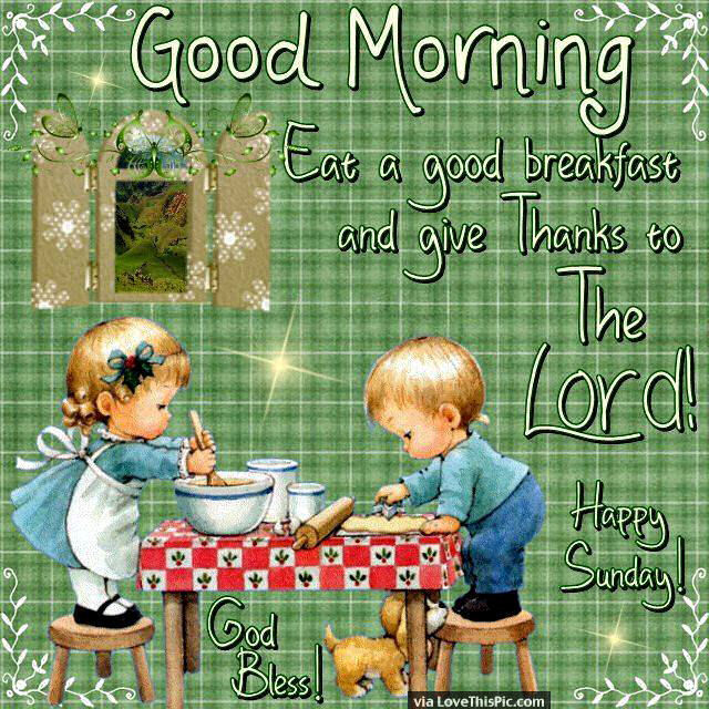 Good Morning Happy Sunday Give Thanks To The Lord Pictures