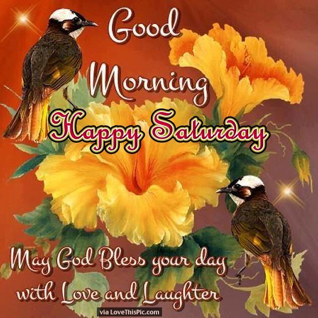 Good Morning Happy Saturday May God Bless Your Day