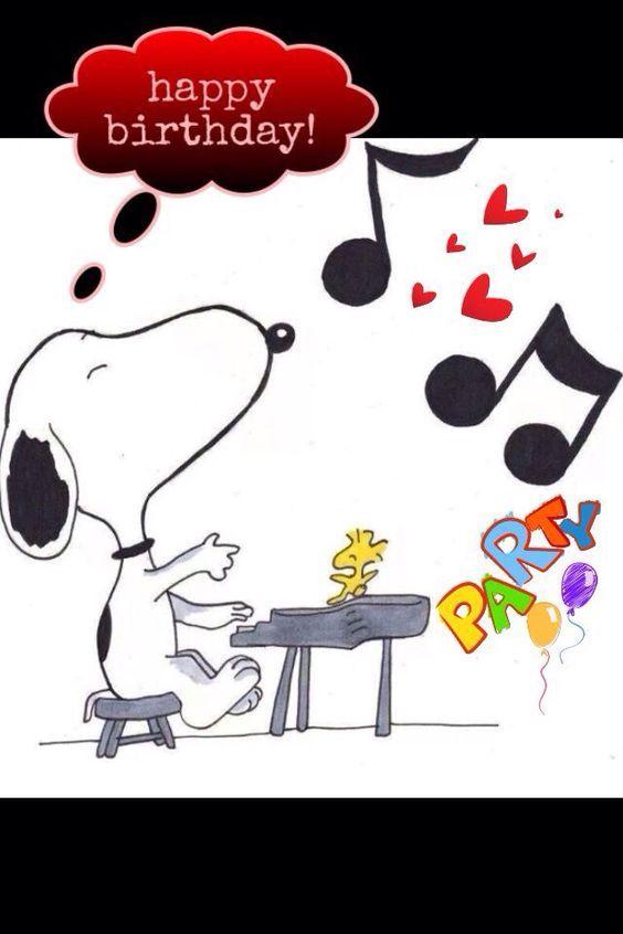 Snoopy Happy Birthday Party Quote
