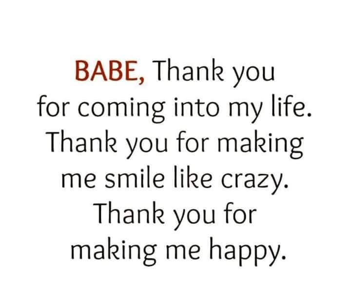 Babe Thank You For Coming Into My Life Pictures, Photos ...