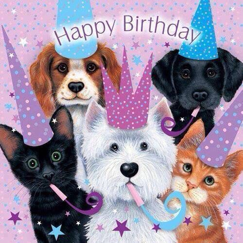 Adorable Happy Birthday Quote With Pets