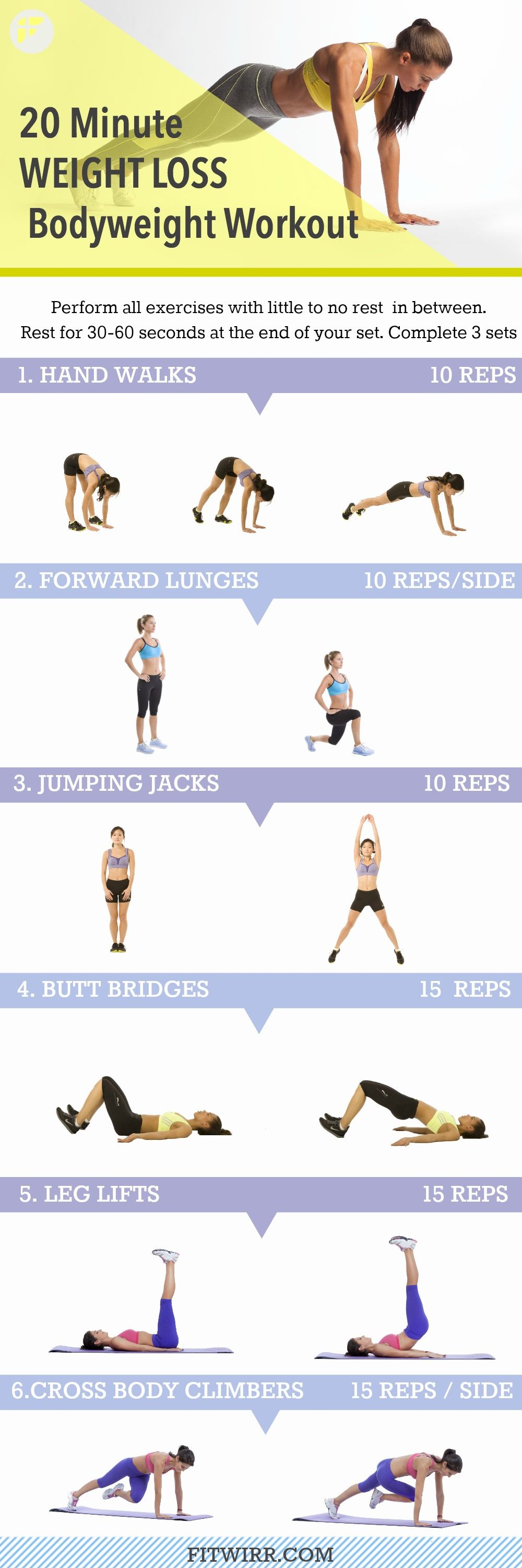 20 Minute Full Body Workout For Weight Loss Pictures ...