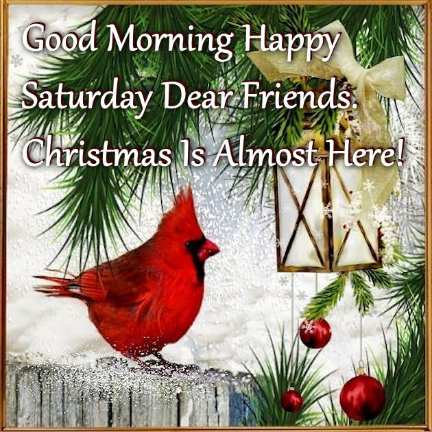 Good Morning Happy Saturday Christmas Is Almost Here