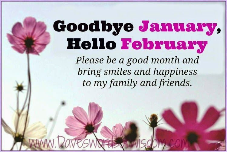 Goodbye January Hello February Quote For Facebook