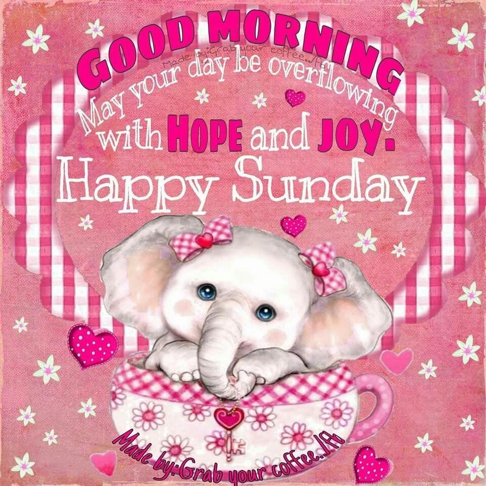 Good Morning, Happy Sunday