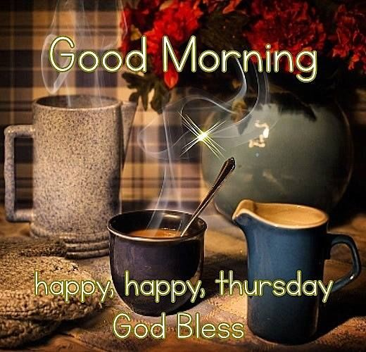 Good Morning Happy Thursday Coffee Quote