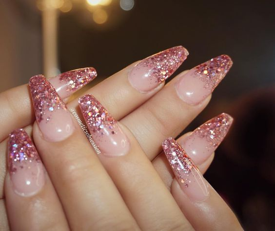 pink glitter tip nails pictures photos and images for