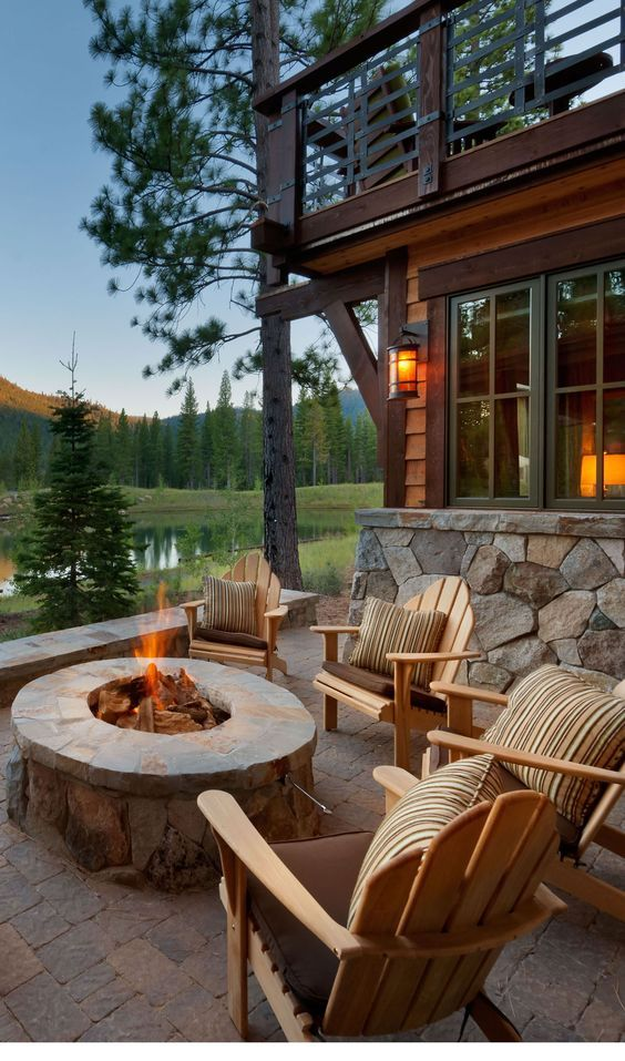 Build This Cozy Cabin Cozy Cabin Magazine Do It Yourself: Scenery And Firepit Pictures, Photos, And Images For