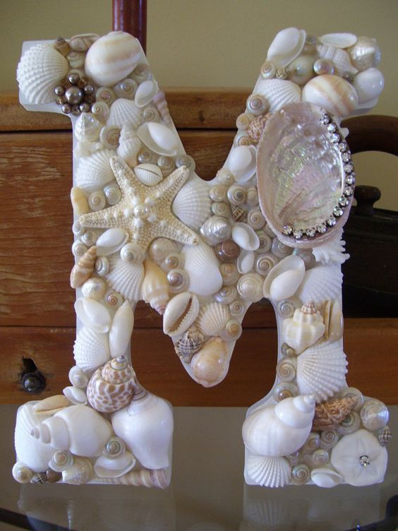 diy seashell covered letters pictures photos and images