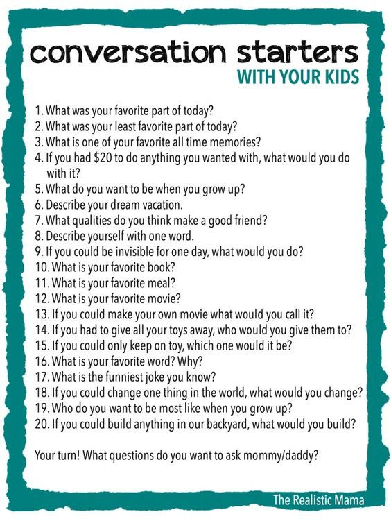 Conversation Starters With Your Kids Pictures  Photos  And