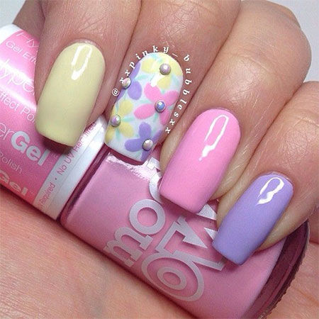 pastel summer nail art design pictures photos and images