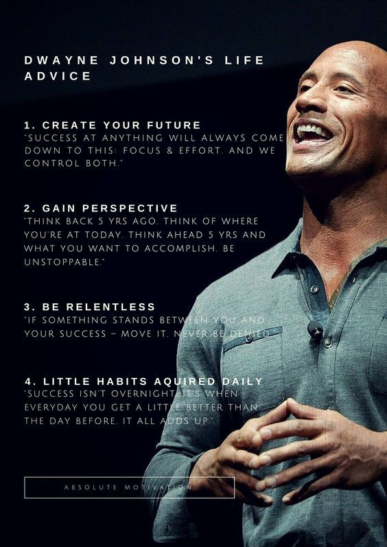 Dwayne Johnson's Life Advice Pictures, Photos, and Images ...