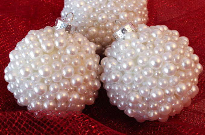 Pearl Christmas Tree Ornaments Pictures Photos And