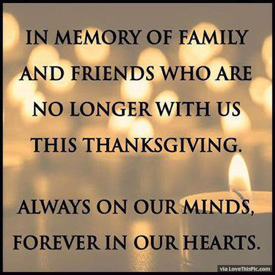 In Memory Of Family And Friends No Longer With Us On