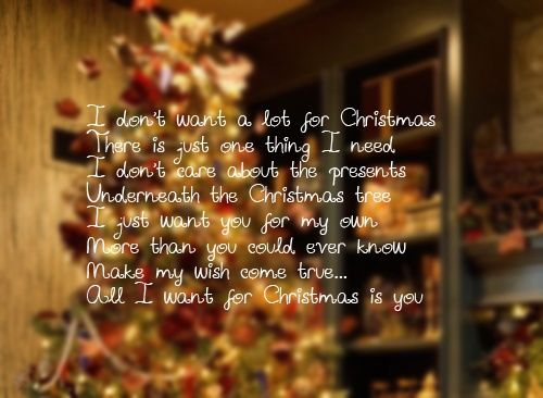 17 Best Images About Christmas Love On Pinterest: I Don't Want A Lot For Christmas.... Pictures, Photos, And