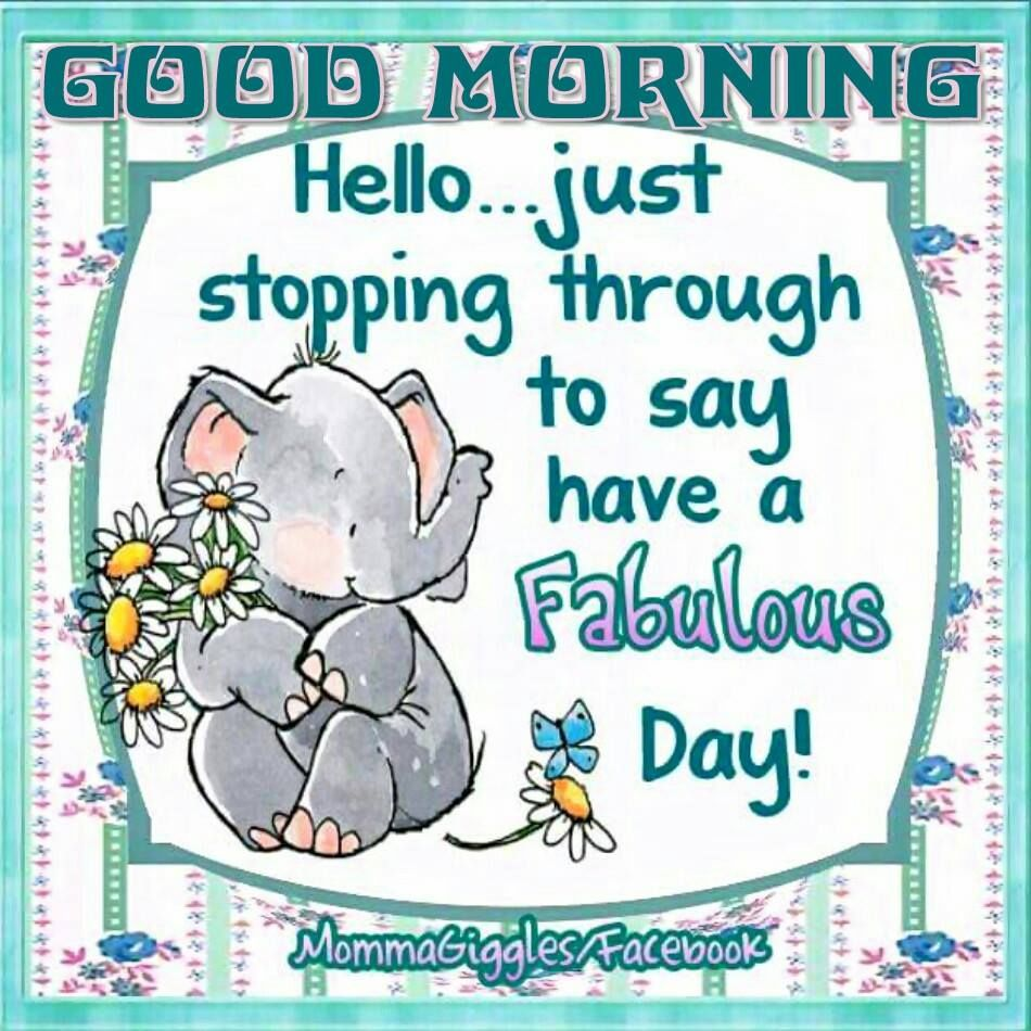 Hello...just stopping through to say have a fabulous day!
