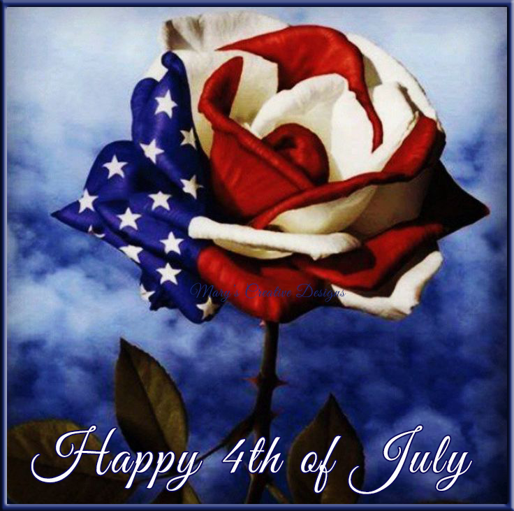 Flag Rose Happy 4th Of July Image