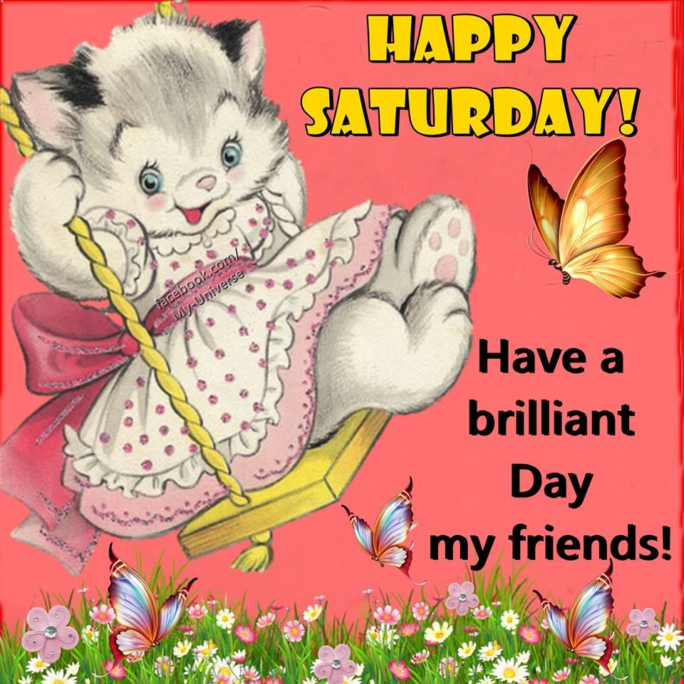 Have a brilliant day my friends, happy saturday!